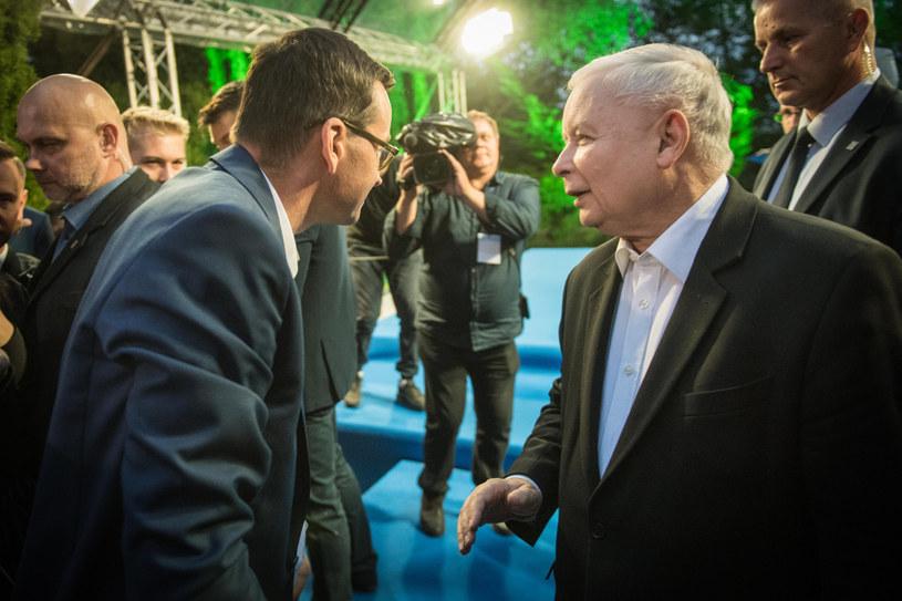 Prezes PiS Jarosław Kaczyński i Mateusz Morawiecki /Jacek Dominski/REPORTER /Reporter