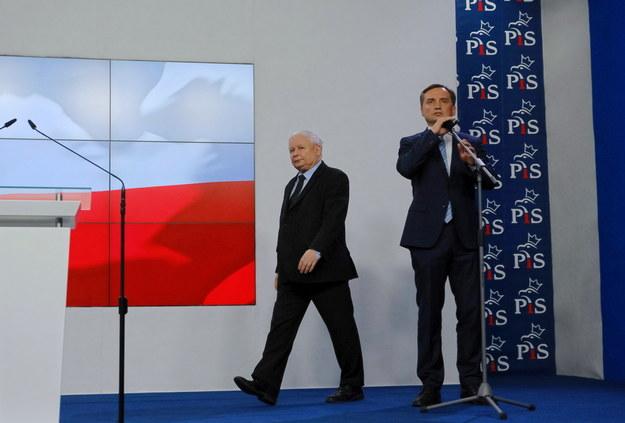 Prezes PiS Jarosław Kaczyński i minister sprawiedliwości Zbigniew Ziobro /Mateusz Marek /PAP