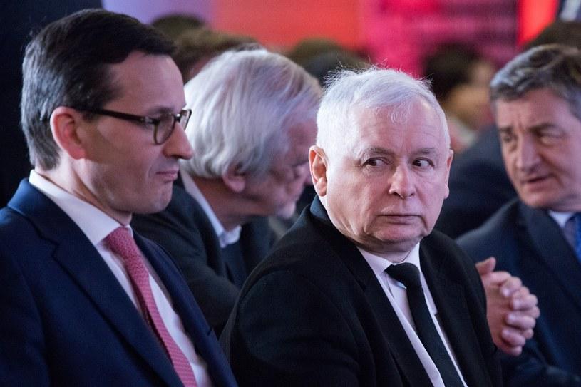 Prezes PiS Jarosław Kaczyński i premier Mateusz Morawiecki /Pawel Wisniewski /East News