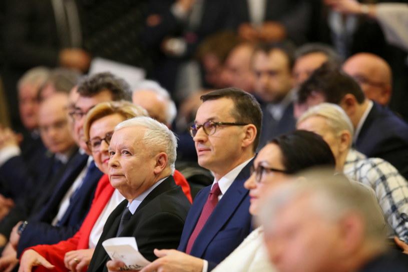 Prezes PiS Jarosław Kaczyński i premier Mateusz Morawiecki / Andrzej Grygiel /PAP