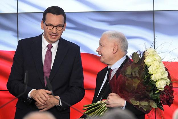 Prezes PiS Jarosław Kaczyński i premier Mateusz Morawiecki / Radek Pietruszka   /PAP