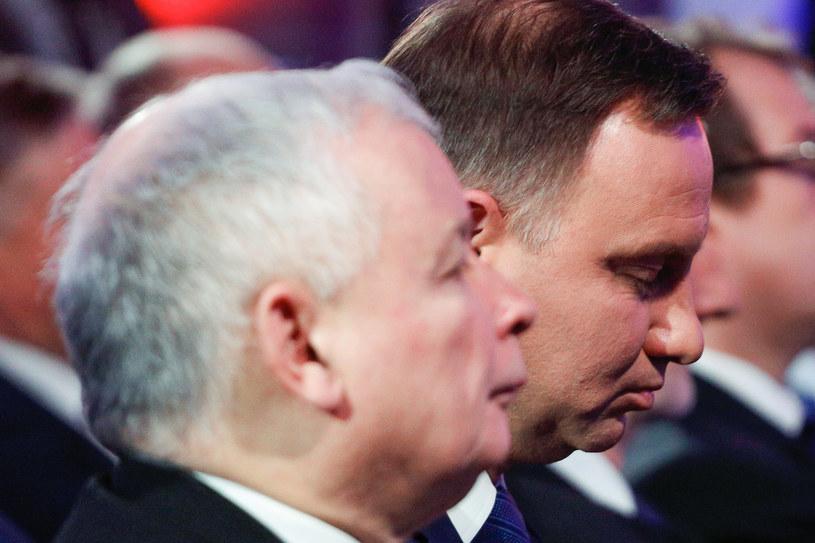 Prezes PiS Jarosław Kaczyński i prezydent Andrzej Duda /Simona Supino /Agencja FORUM