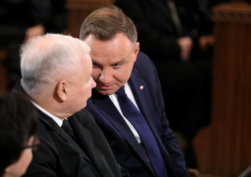 Prezes PiS Jarosław Kaczyński i prezydent Andrzej Duda /Piotr Molecki /East News