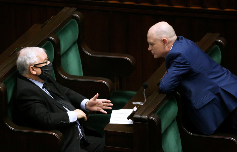 Prezes PiS Jarosław Kaczyński i Waldemar Andzel /Piotr Molecki /East News