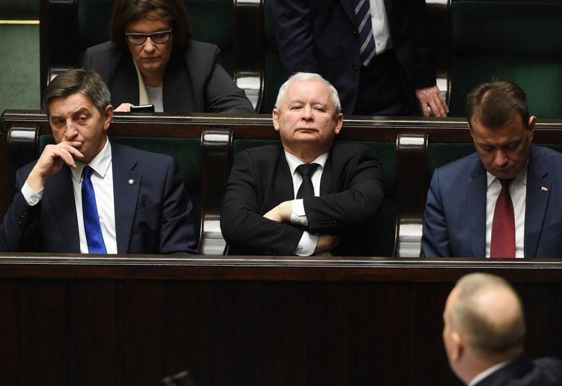 Prezes PiS Jarosław Kaczyński ma - zdaniem badanych - największy wpływ na kluczowe decyzje w państwie /Radek Pietruszka /PAP