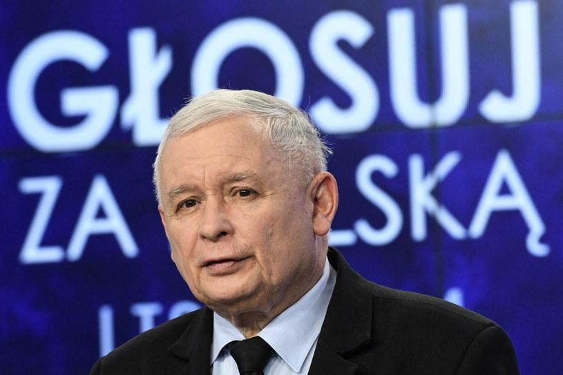 Prezes PiS Jarosław Kaczyński podczas konferencji prasowej / Radek Pietruszka   /PAP