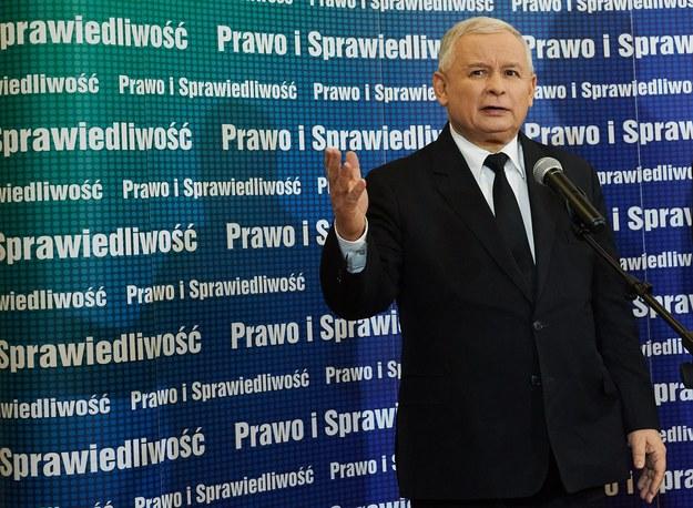 Prezes PiS Jarosław Kaczyński podczas konferencji Prawa i Sprawiedliwości /Adam Warżawa /PAP