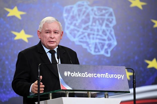 Prezes PiS Jarosław Kaczyński podczas konwencji regionalnej PiS w Lublinie. Fot. Wojciech Pacewicz /PAP