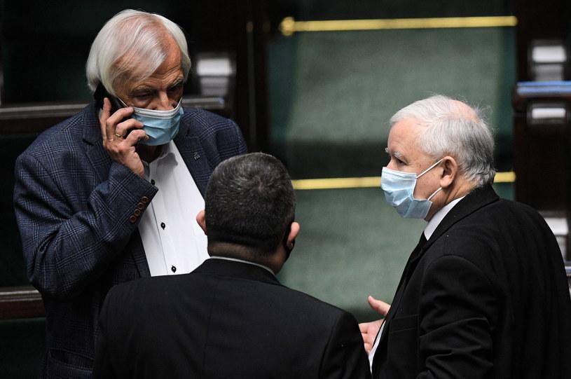 Prezes PiS Jarosław Kaczyński podczas posiedzenia Sejmu / Radek Pietruszka   /PAP