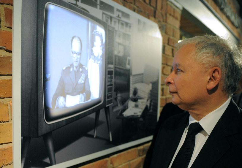 Prezes PiS Jarosław Kaczyński w Izbie Pamięci Kopalni Wujek /Adam Chelstowski /Agencja FORUM