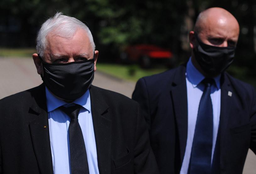 Prezes PiS Jarosław Kaczyński w Obwodowej Komisji Wyborczej nr 333 w niedzielę, 28 czerwca /Adam Chelstowski /Agencja FORUM