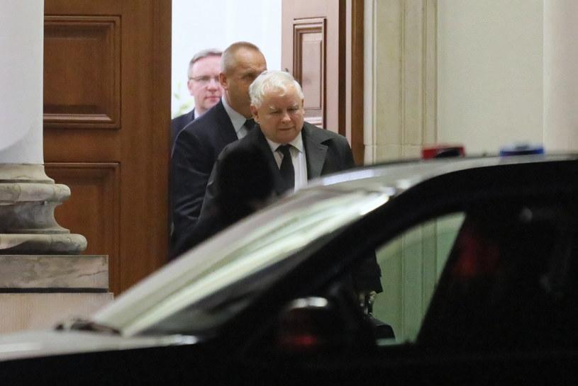 Prezes PiS Jarosław Kaczyński w Pałacu Belwederskim w Warszawie /Paweł Supernak /PAP