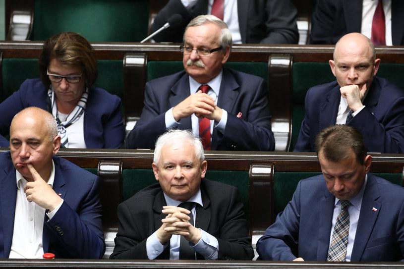 Prezes PiS Jarosław Kaczyński w Sejmie /Fot. Stanislaw Kowalczuk /East News