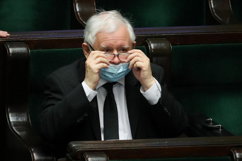 Prezes PiS Jarosław Kaczyński w Sejmie /fot. Andrzej Iwanczuk /Reporter