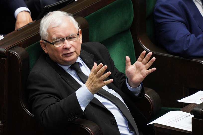 Prezes PiS Jarosław Kaczyński w Sejmie /Jacek Dominski/ /Reporter