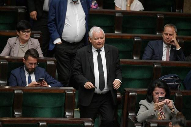 Prezes PiS Jarosław Kaczyński w Sejmie / Marcin Obara  /PAP