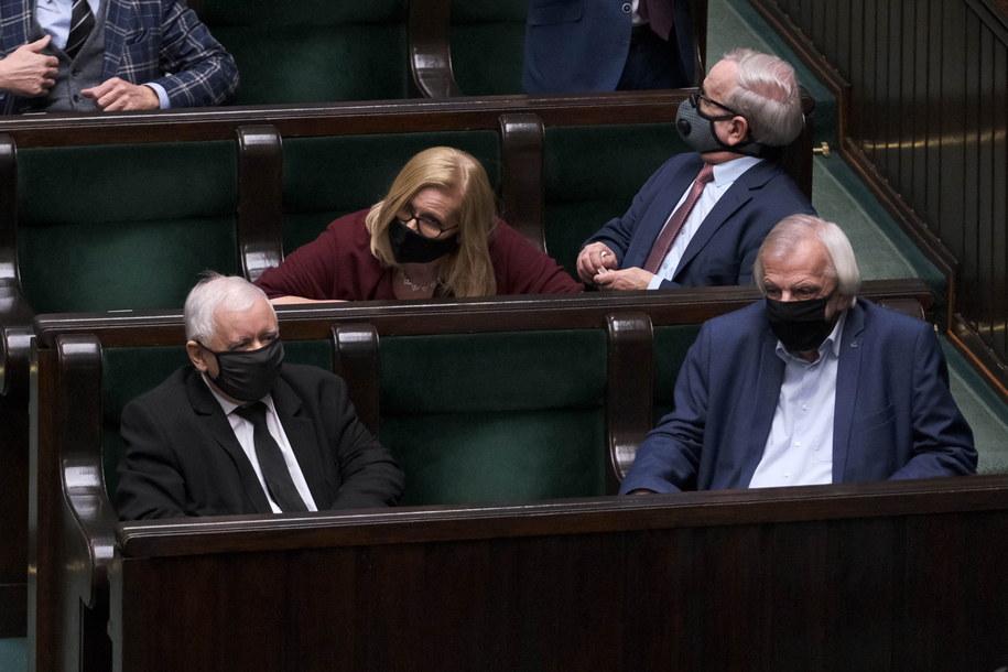Prezes PiS Jarosław Kaczyński w Sejmie /Mateusz Marek /PAP