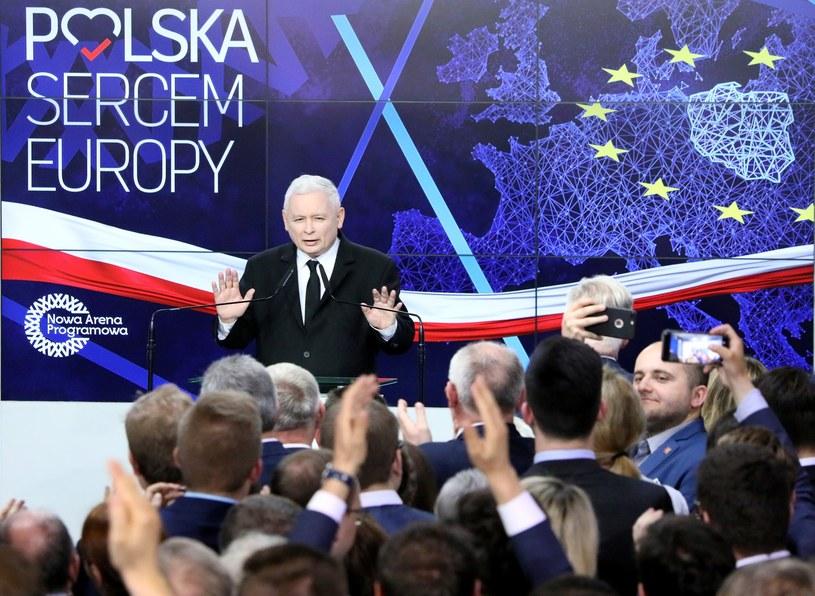 Prezes PiS Jarosław Kaczyński w sztabie wyborczym Prawa i Sprawiedliwości w Warszawie, zdjęcie archiwalne /Piotr Molecki /East News