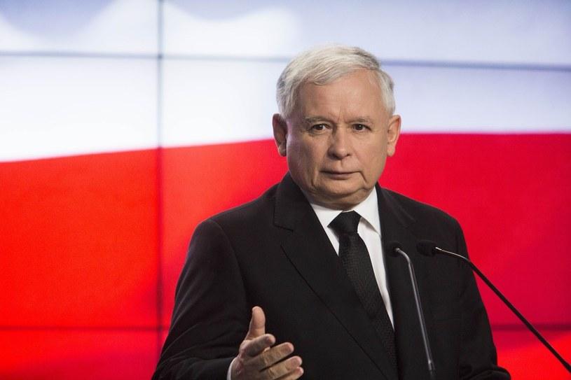 Prezes PiS Jarosław Kaczyński /Andrzej Hulimka/Reporter /East News