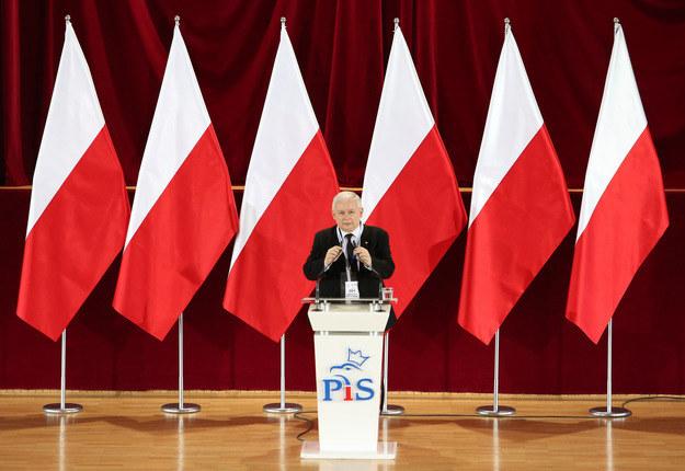 Prezes PiS Jarosław Kaczyński /Michał Dyjuk /Reporter
