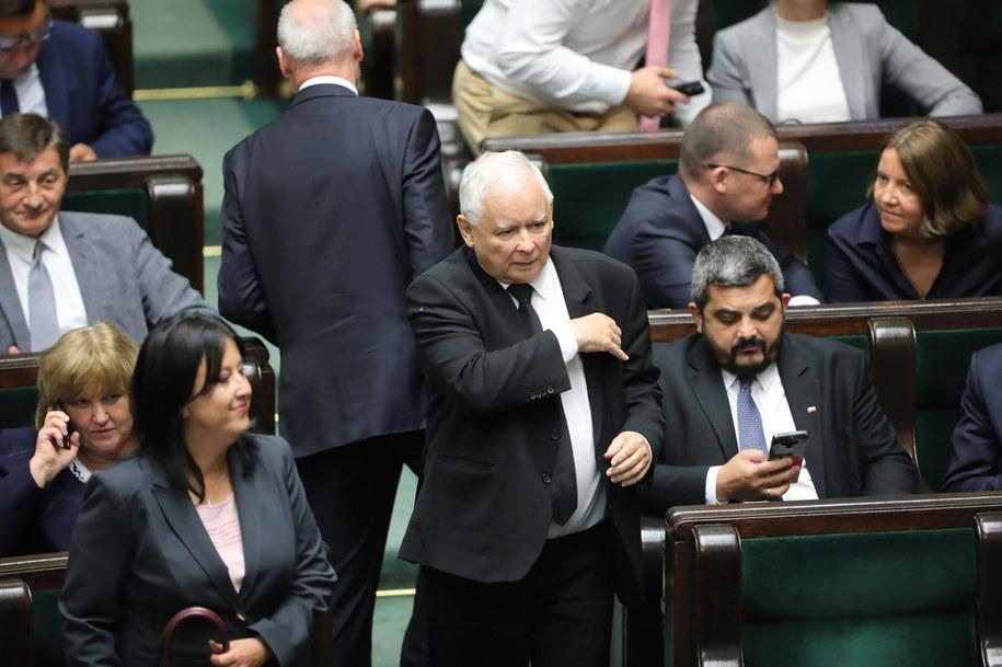 Prezes PiS Jarosław Kaczyński /Wojciech Olkuśnik /PAP