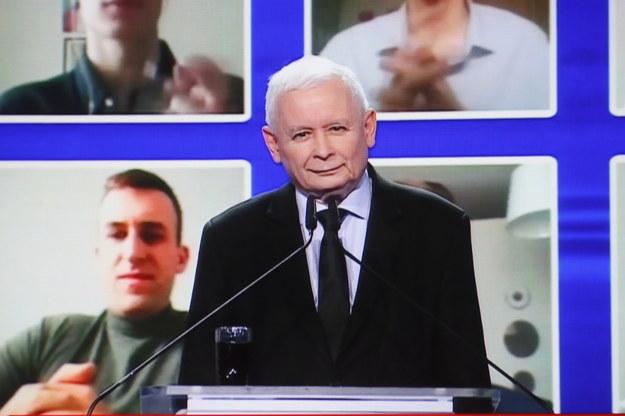 Prezes PiS Jarosław Kaczyński / Leszek Szymański    /PAP