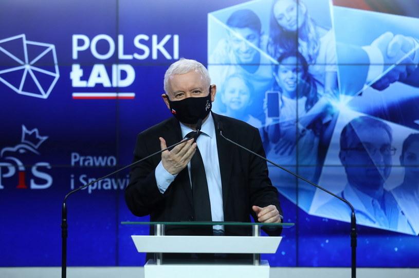 Prezes PiS Jarosław Kaczyński /Rafał  Guz /PAP