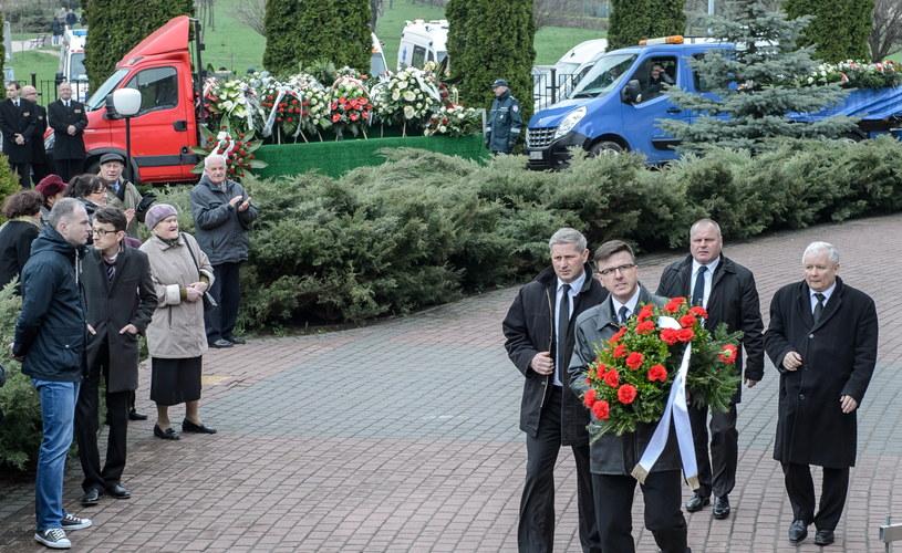 Prezes PiS na pogrzebie Zyty Gilowskiej /Wojciech Pacewicz /PAP