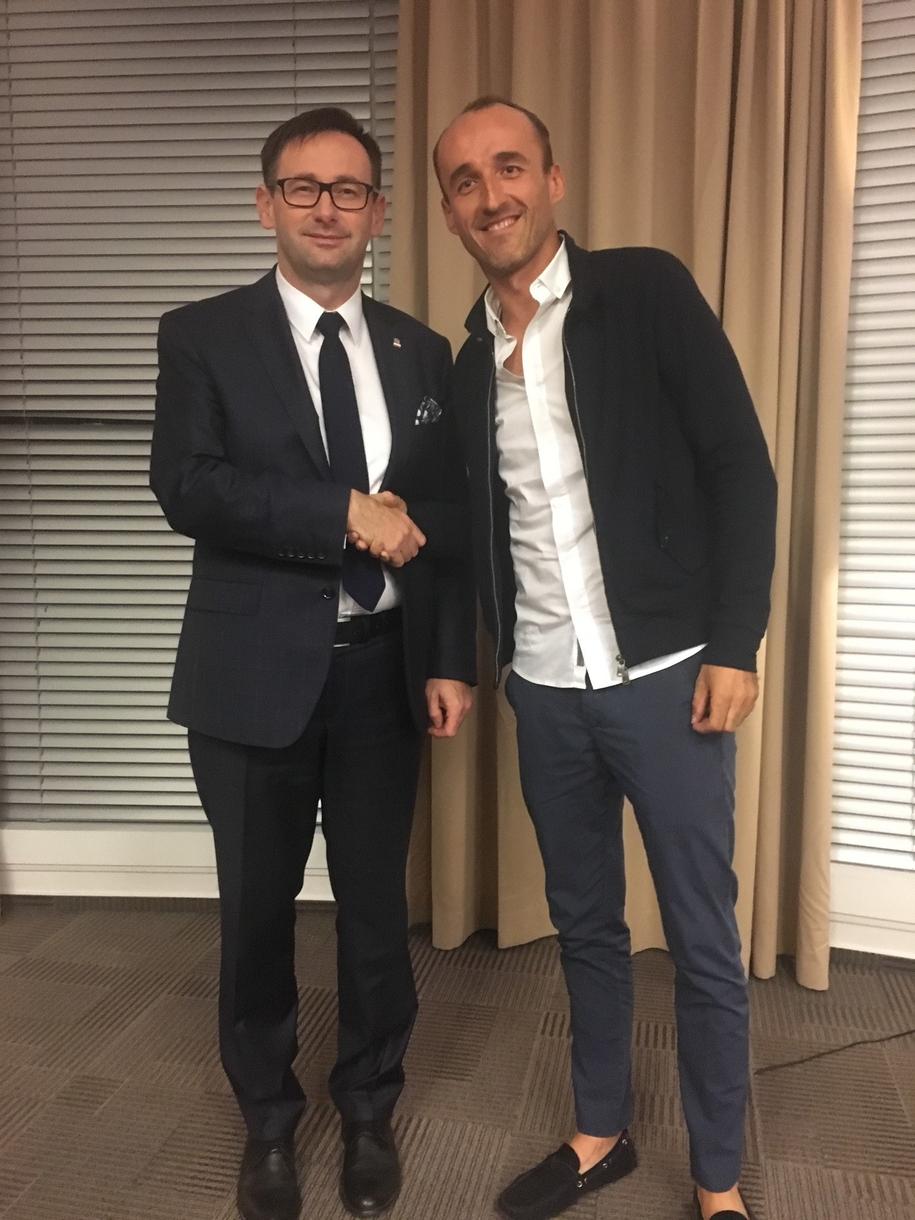 Prezes PKN Orlen Daniel Obajtek i Robert Kubica /PKN Orlen /Materiały prasowe