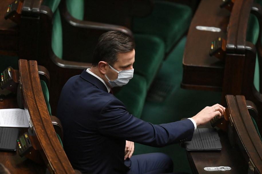 Prezes Polskiego Stronnictwa Ludowego Władysław Kosiniak-Kamysz na sali posiedzeń Sejmu / Marcin Obara  /PAP
