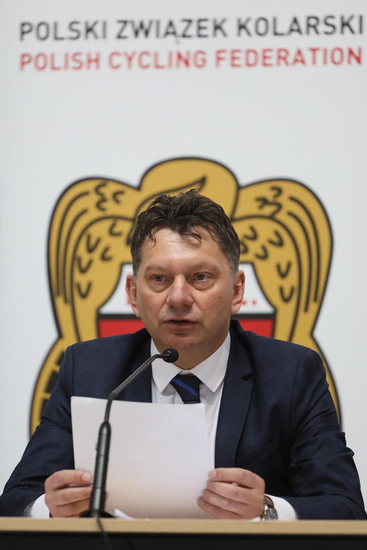 Prezes Polskiego Związku Kolarskiego Dariusz Banaszek /Paweł Supernak /PAP