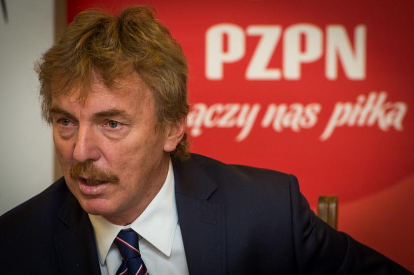 Prezes Polskiego Związku Piłki Nożnej Zbigniew Boniek /Tytus Żmijewski /PAP