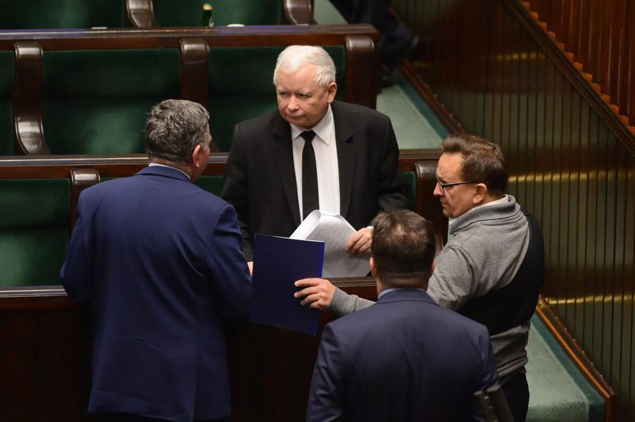 Prezes Prawa i Sprawiedliwości Jarosław Kaczyński w Sejmie / Jakub Kamiński    /PAP