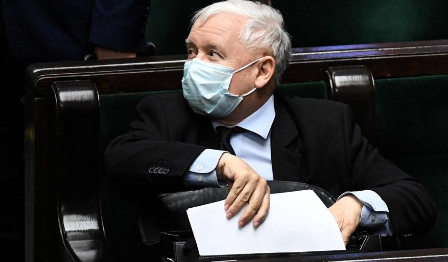 Prezes Prawa i Sprawiedliwości Jarosław Kaczyński / Radek Pietruszka   /PAP
