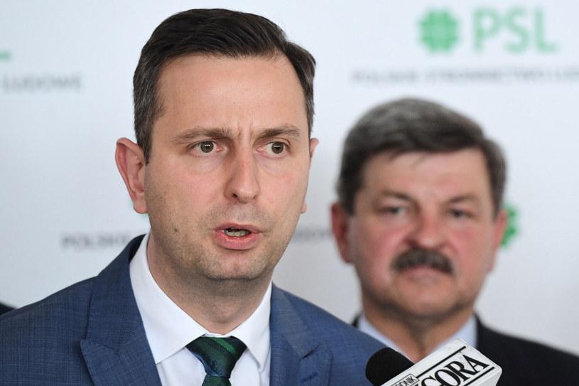 Prezes PSL Władysław Kosiniak-Kamysz i poseł do PE Jarosław Kalinowski / Radek Pietruszka   /PAP