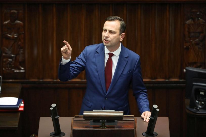 Prezes PSL Władysław Kosiniak-Kamysz na sali obrad /Wojciech Olkuśnik /PAP