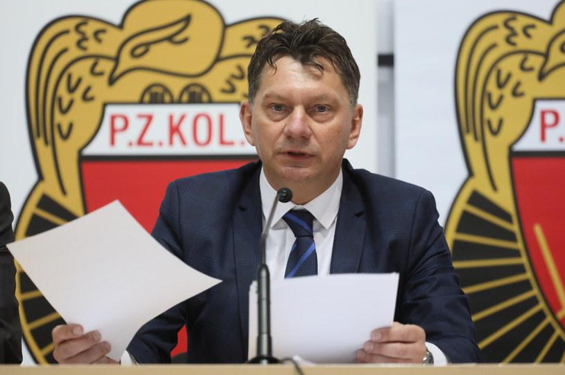 Prezes PZKol. Dariusz Banaszek /Fot. Paweł Supernak /PAP