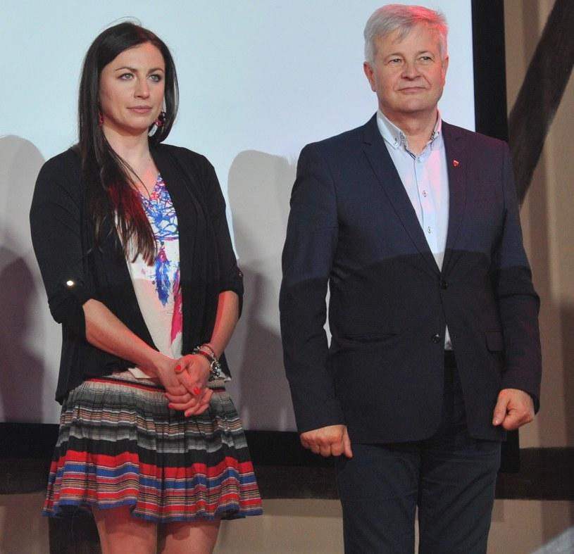 Prezes PZN Apoloniusz Tajner i Justyna Kowalczyk /Fot. Michał Klag/REPORTER /East News