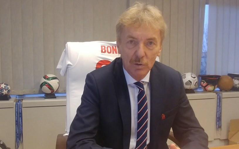 Prezes PZPN-u Zbigniew Boniek gościł Interię w swym gabinecie /Michał Białoński /INTERIA.PL