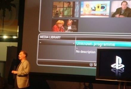 Prezes Sony EntertainmentEurope prezentuje Play TV PlayStation 3. /INTERIA.PL - Łukasz Kujawa
