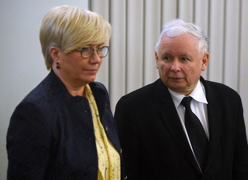 Prezes TK Julia Przyłębska i prezes PiS Jarosław Kaczyński /Agencja FORUM