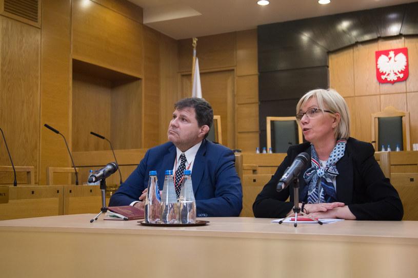 Prezes TK Julia Przyłębska oraz wiceprezes TK Mariusz Muszyński /Mateusz Włodarczyk /Agencja FORUM
