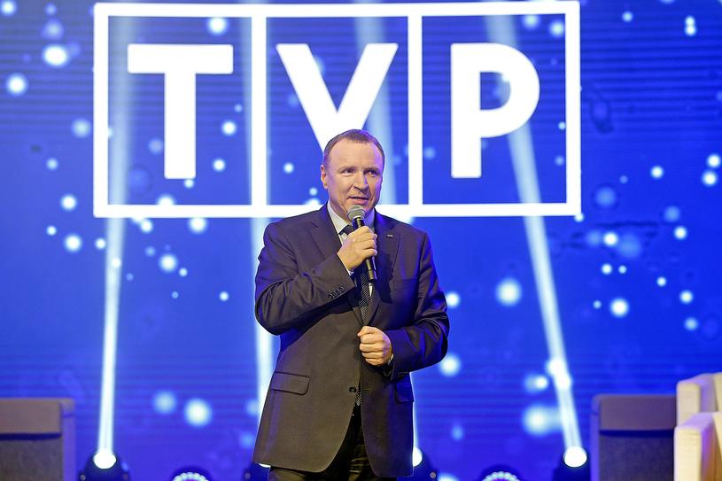 Prezes TVP, Jacek Kurski, z pewnością ma powody do zadowolenia /Podlewski /AKPA