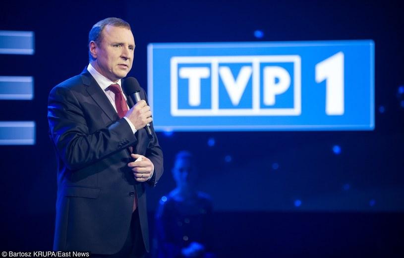 Prezes TVP Jacek Kurski /Bartosz Krupa /East News