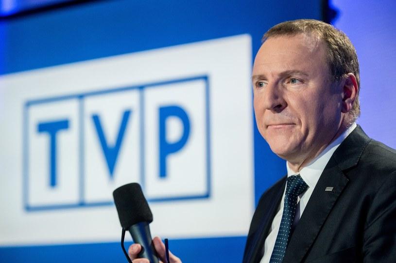 Prezes TVP Jacek Kurski /fot. Andrzej Iwanczuk /Reporter