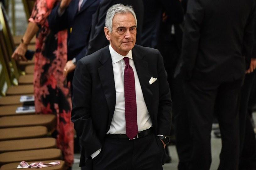 Prezes Włoskiej Federacji Piłkarskiej Gabriele Gravina /AFP