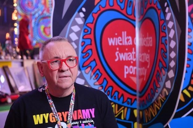 Prezes zarządu Fundacji Wielkiej Orkiestry Świątecznej Pomocy Jerzy Owsiak /Radek Pietruszka /PAP