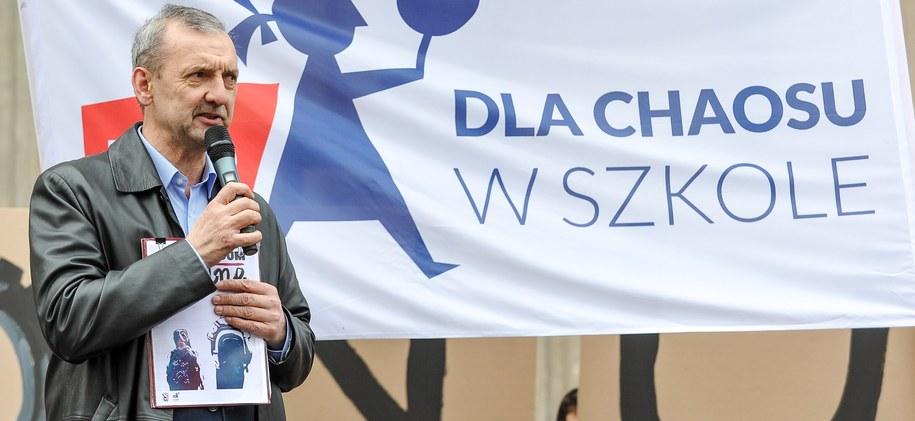 Prezes ZNP Sławomir Broniarz /PAP/Marcin Obara /PAP