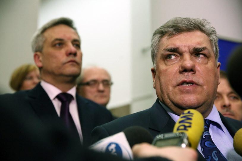 Prezes Związku Międzynarodowych Przewoźników Drogowych Jan Buczek, zdj. z 3. lutego br /Tomasz Gzell /PAP