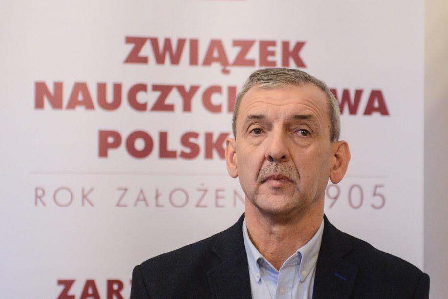 Prezes Związku Nauczycielstwa Polskiego Sławomir Broniarz /PAP/Jakub Kamiński  /PAP
